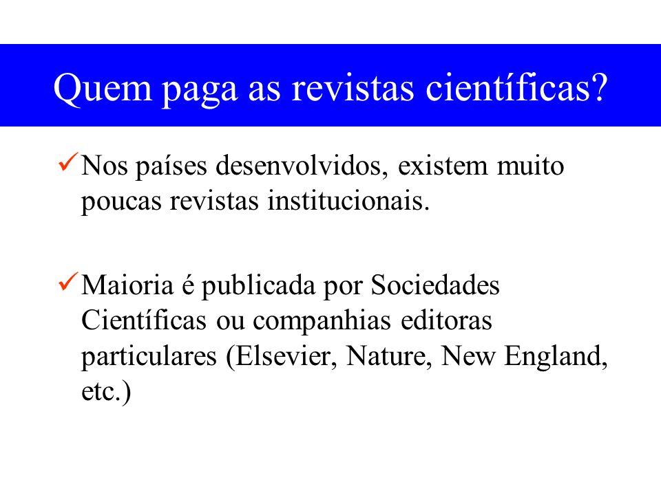 Quem paga as revistas científicas