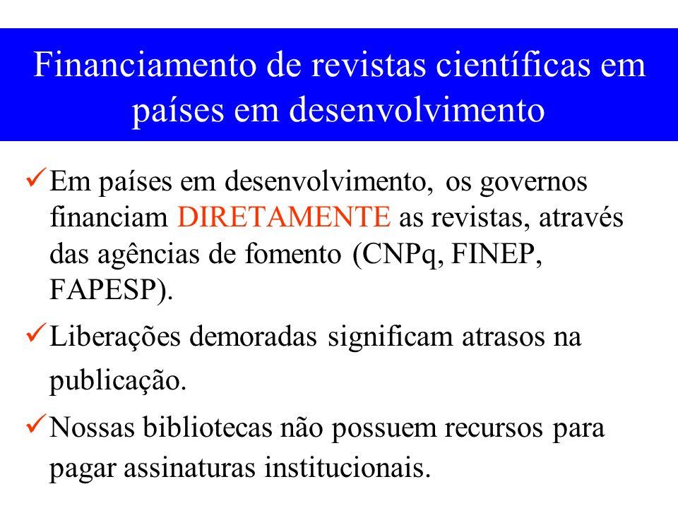 Financiamento de revistas científicas em países em desenvolvimento
