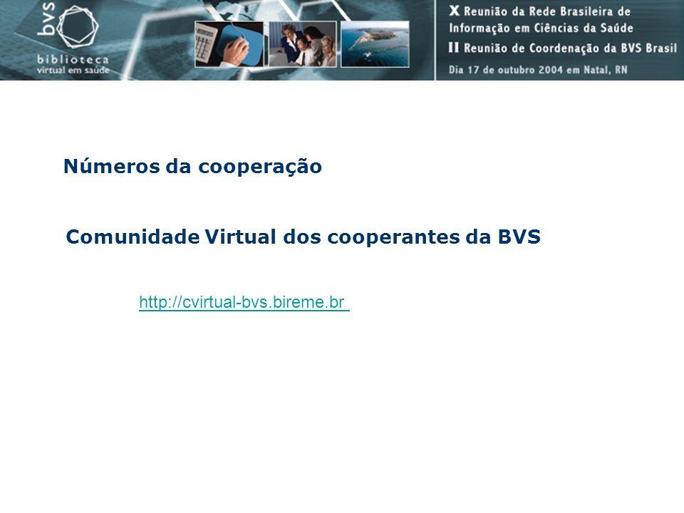 Comunidade Virtual dos cooperantes da BVS
