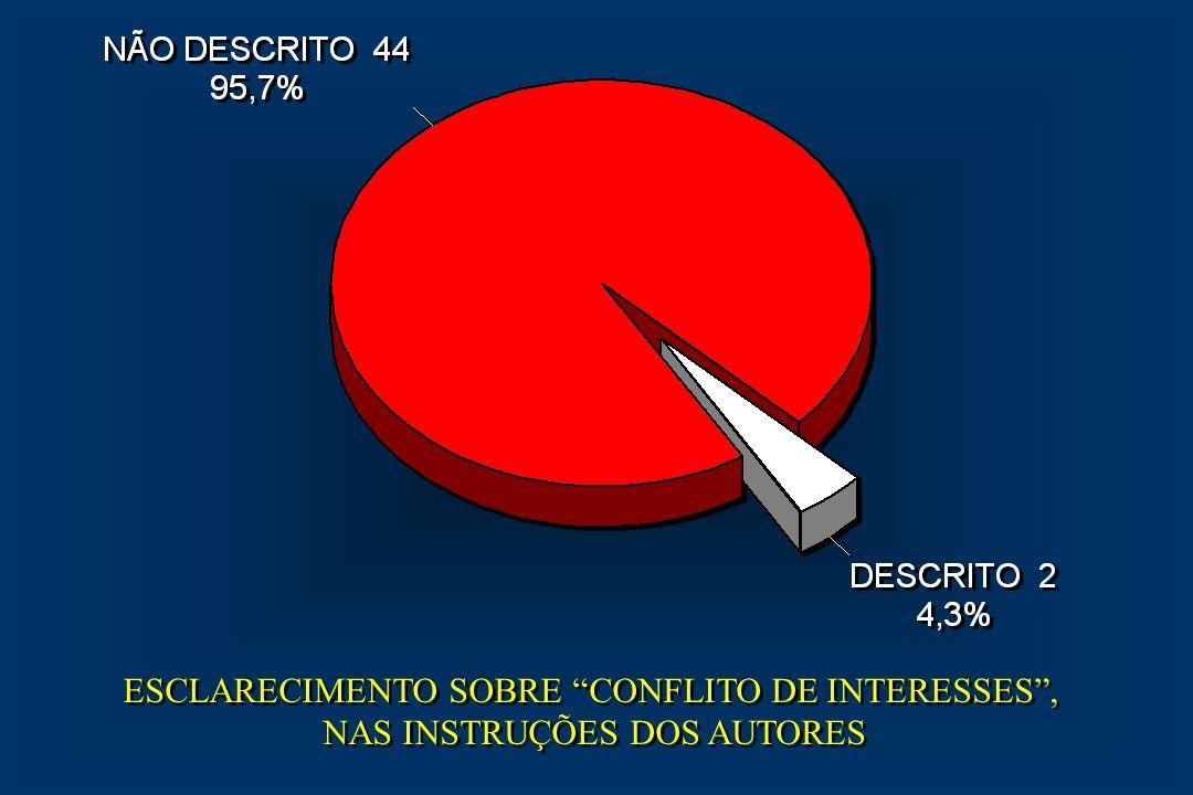 ESCLARECIMENTO SOBRE CONFLITO DE INTERESSES ,