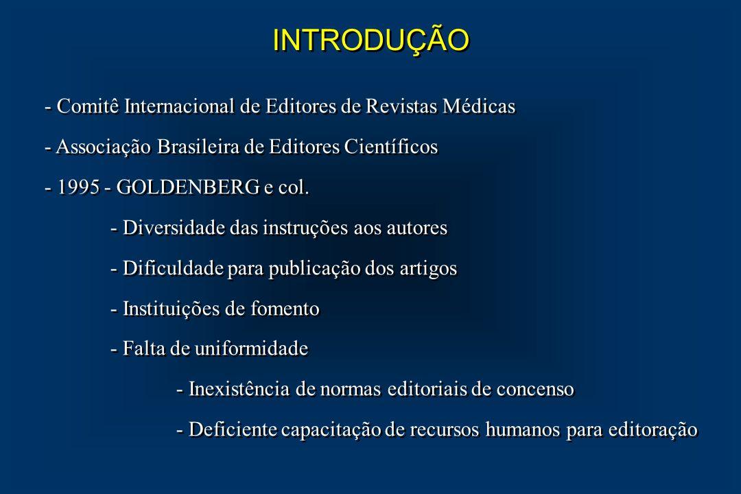 INTRODUÇÃO - Comitê Internacional de Editores de Revistas Médicas