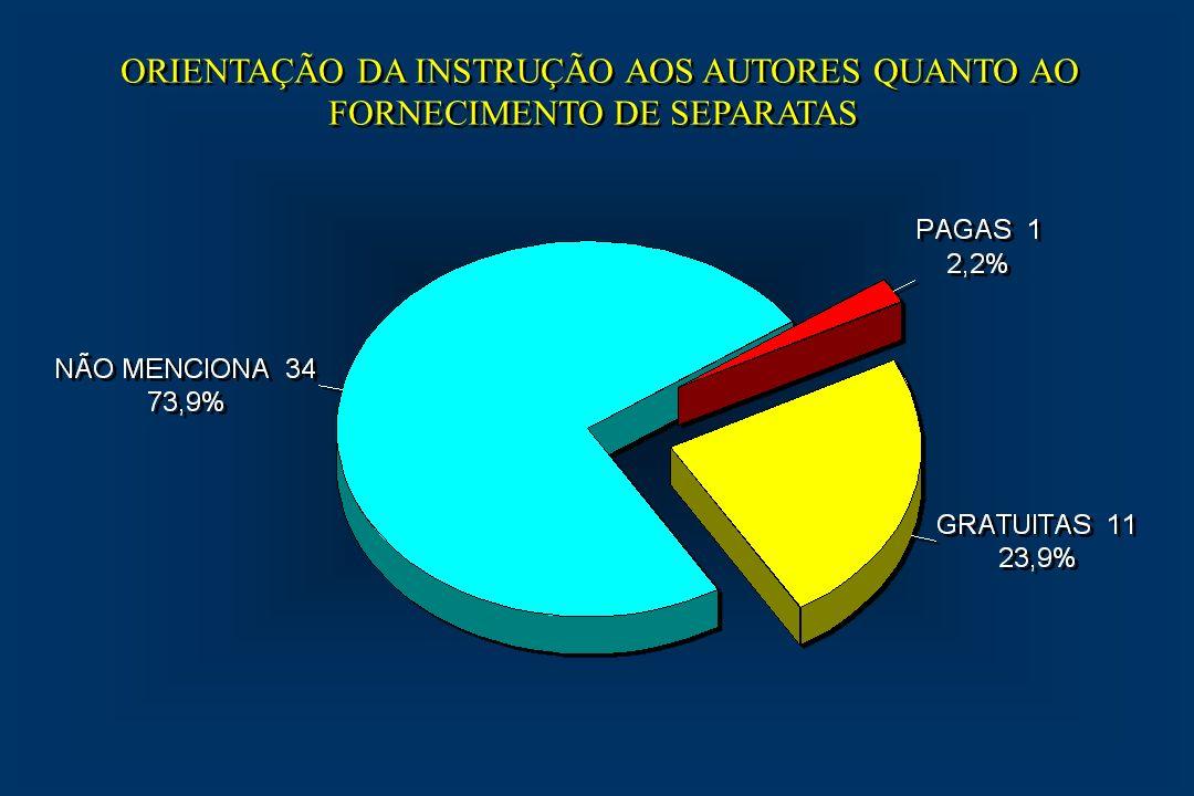 ORIENTAÇÃO DA INSTRUÇÃO AOS AUTORES QUANTO AO