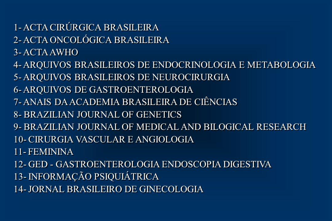 1- ACTA CIRÚRGICA BRASILEIRA