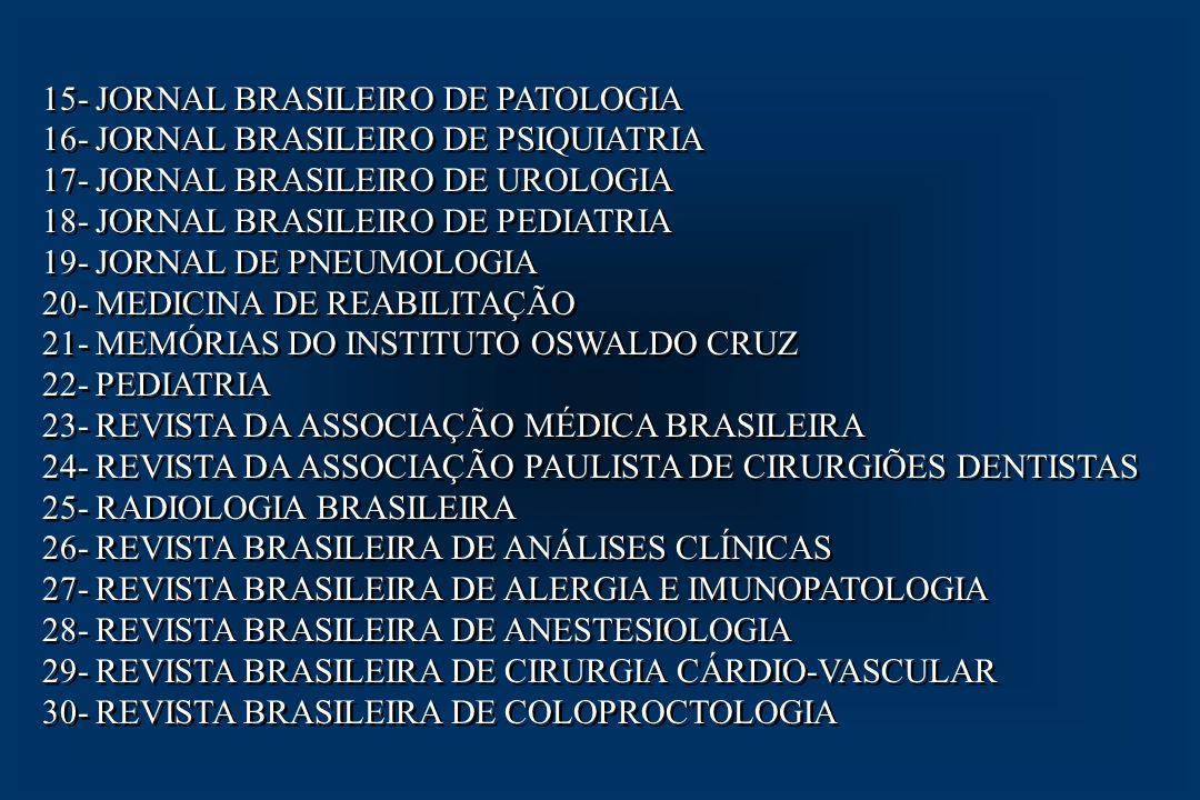 15- JORNAL BRASILEIRO DE PATOLOGIA