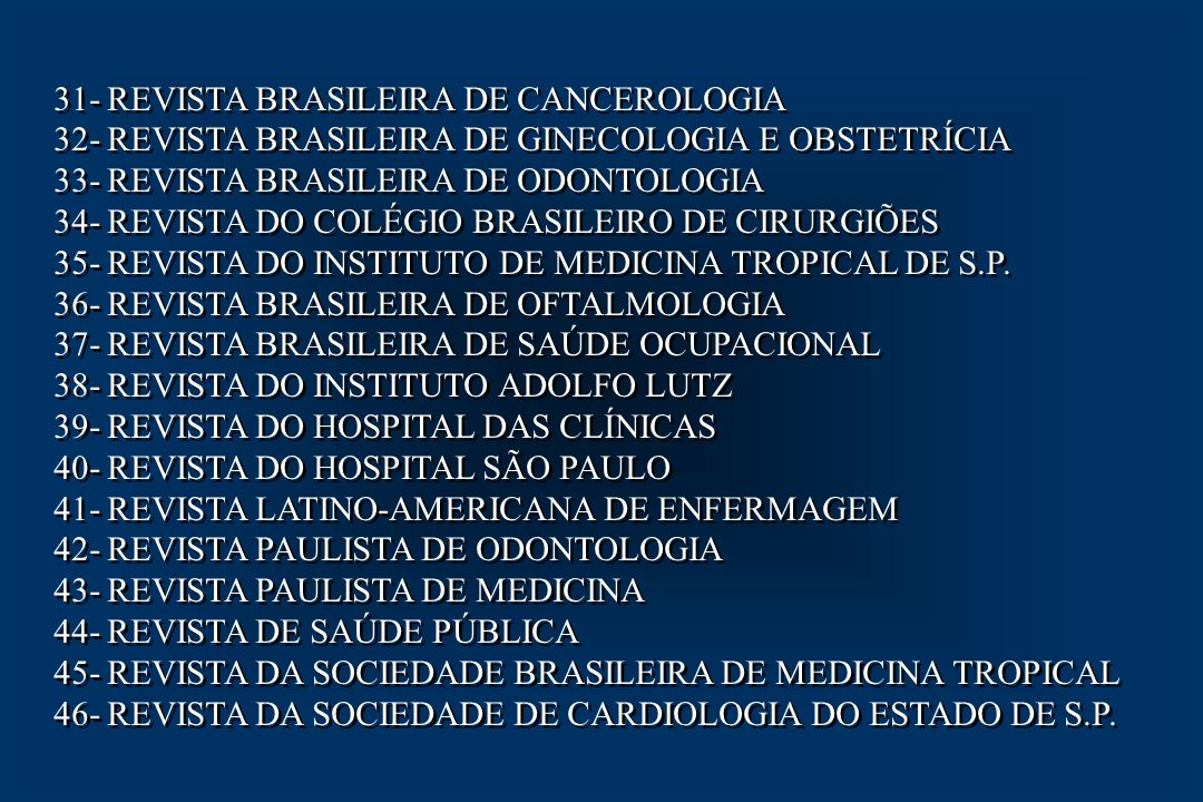 31- REVISTA BRASILEIRA DE CANCEROLOGIA