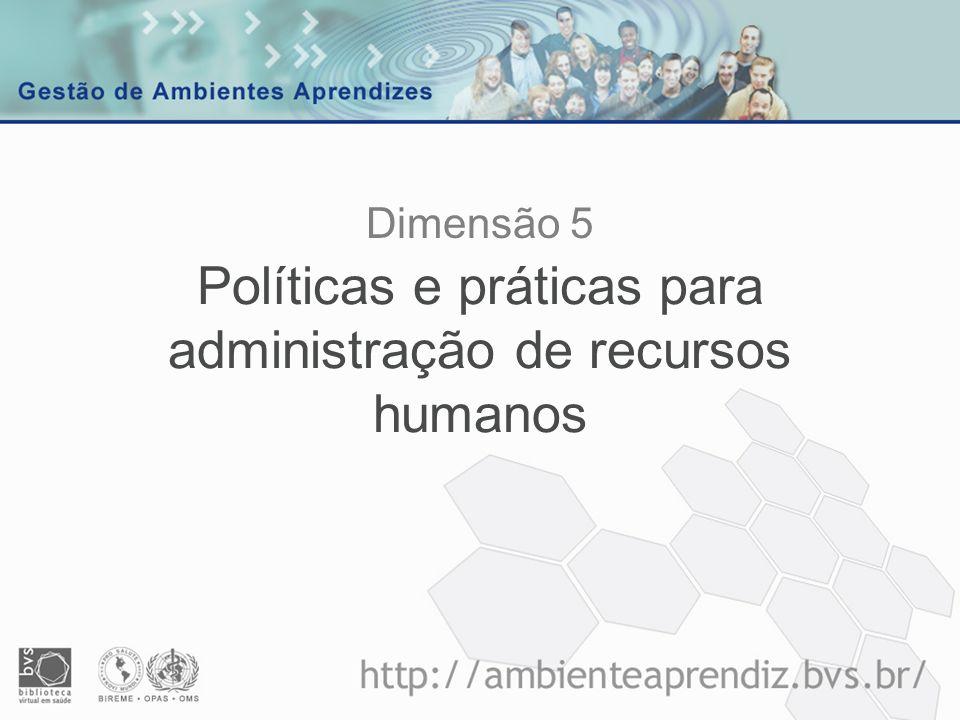 Políticas e práticas para administração de recursos humanos