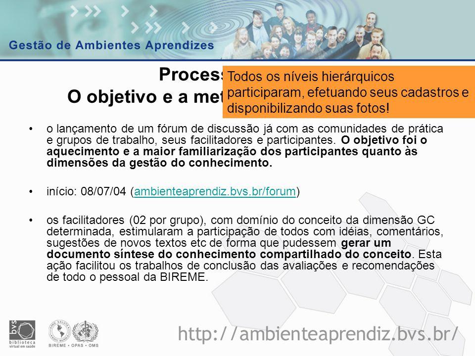 Processo GIC BIR O objetivo e a metodologia de trabalho
