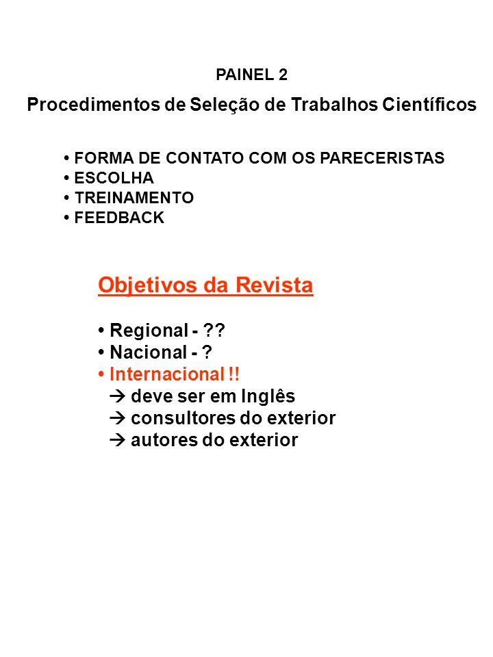 Procedimentos de Seleção de Trabalhos Científicos