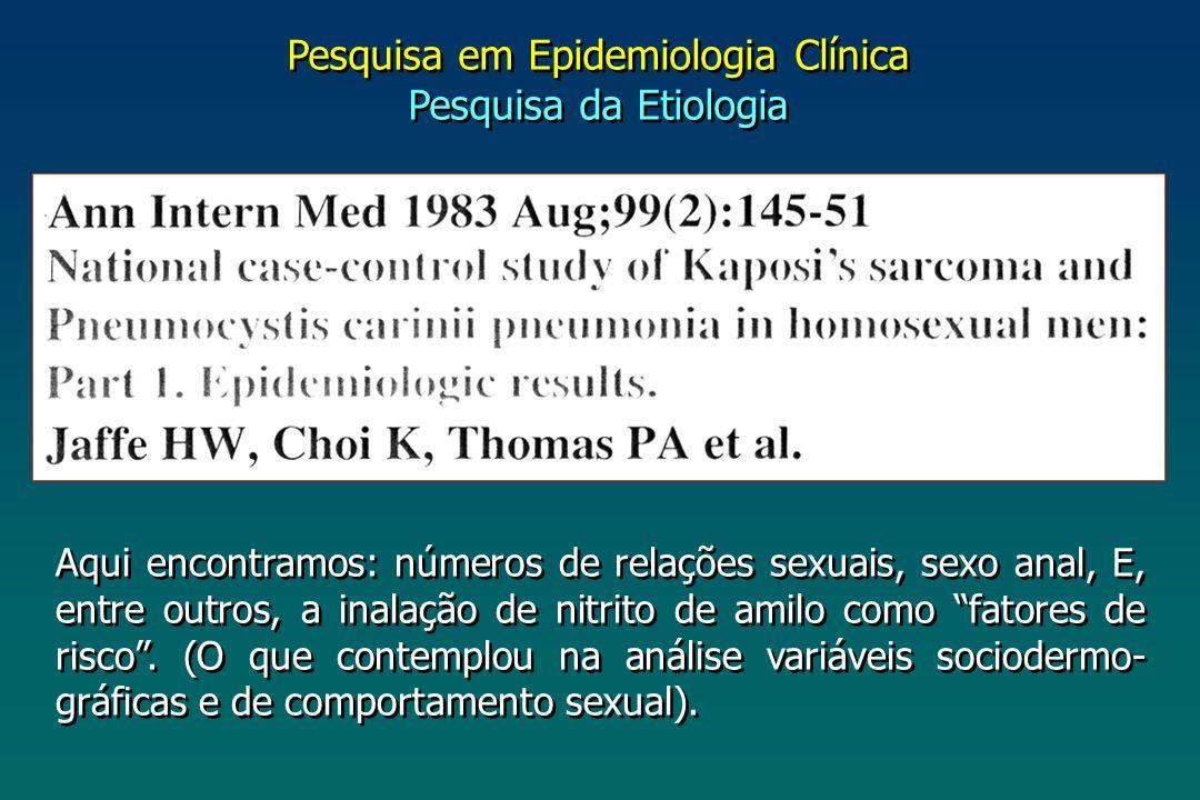 Pesquisa em Epidemiologia Clínica