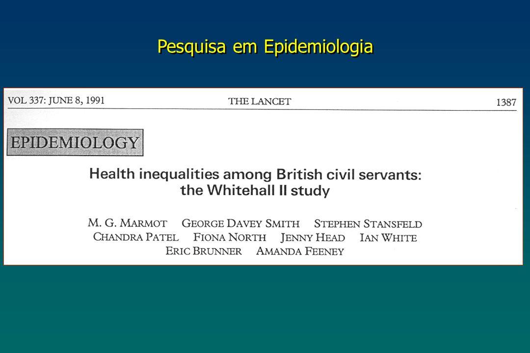 Pesquisa em Epidemiologia