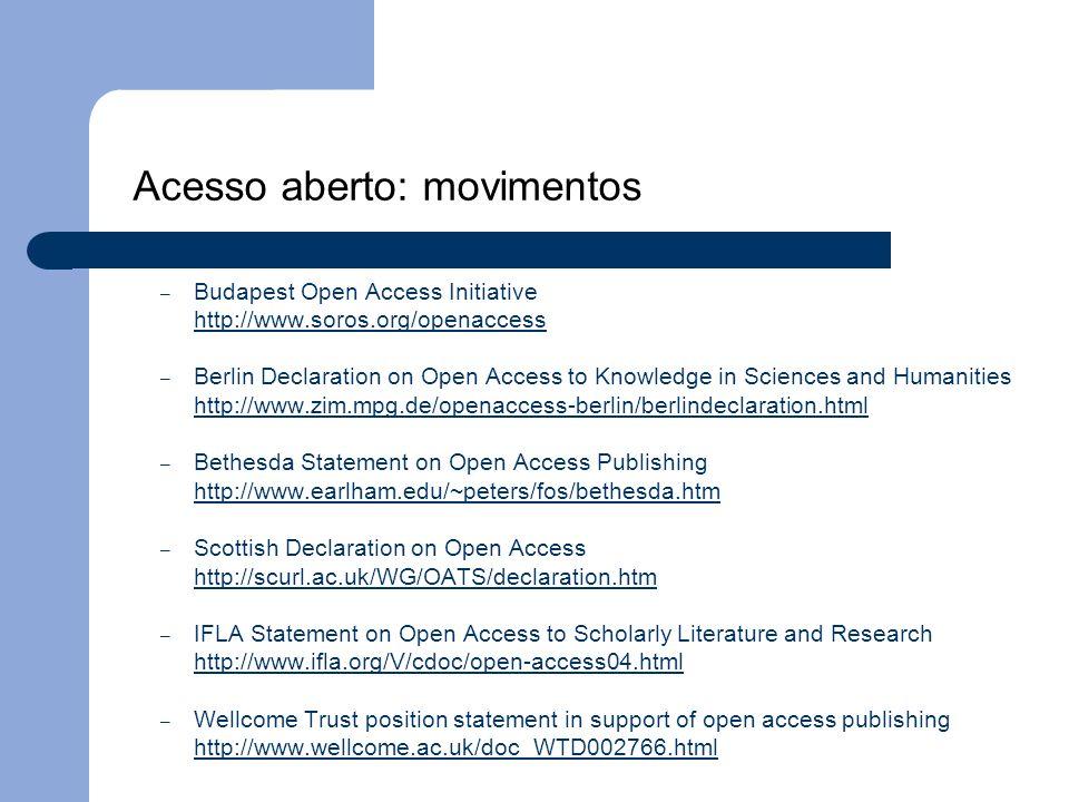 Acesso aberto: movimentos