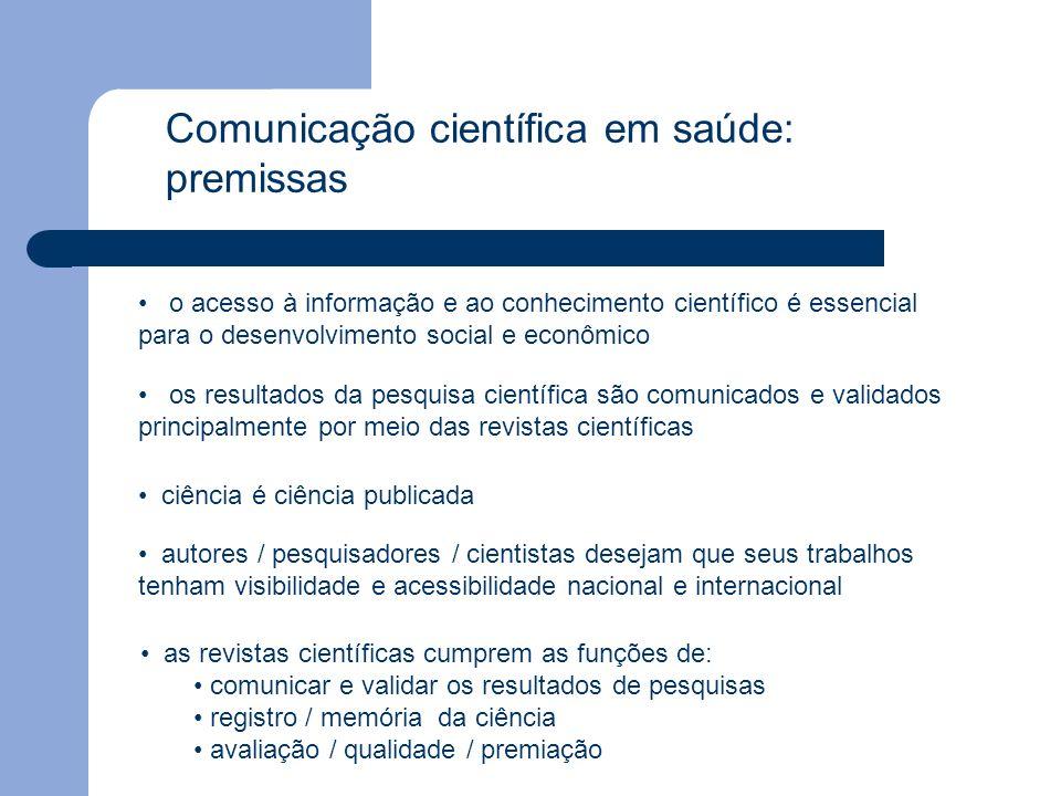 Comunicação científica em saúde: premissas