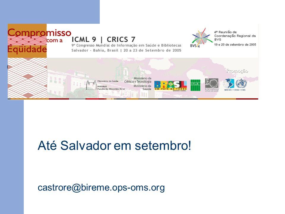 Até Salvador em setembro!