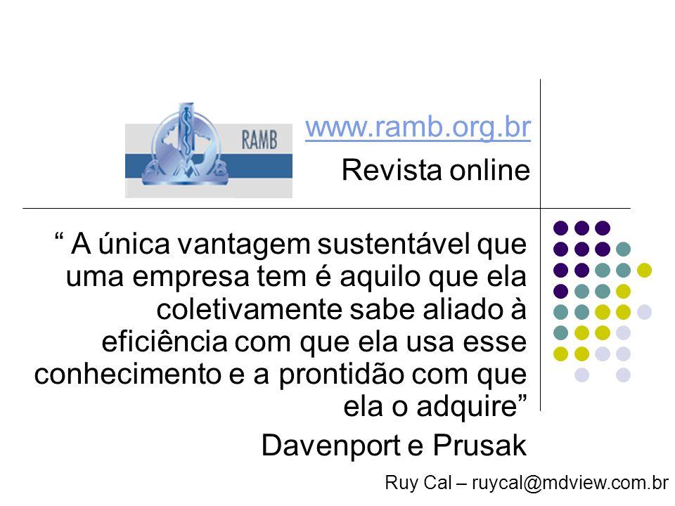 www.ramb.org.br Revista online