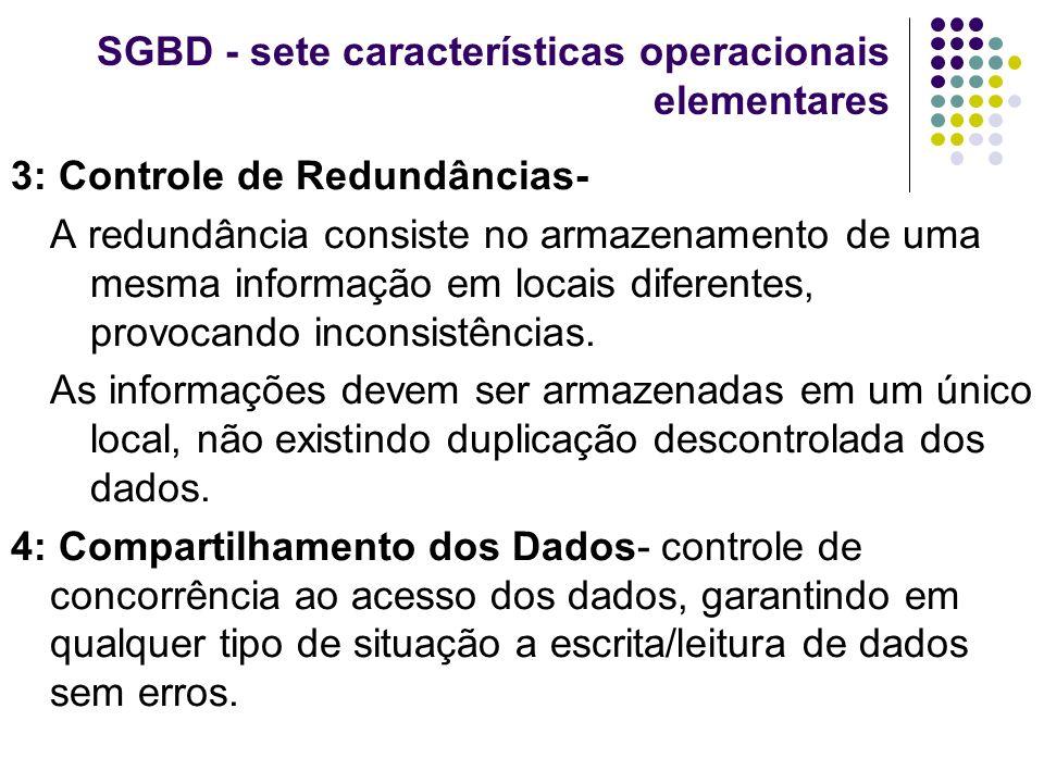 SGBD - sete características operacionais elementares