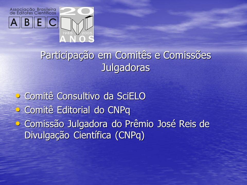Participação em Comitês e Comissões Julgadoras