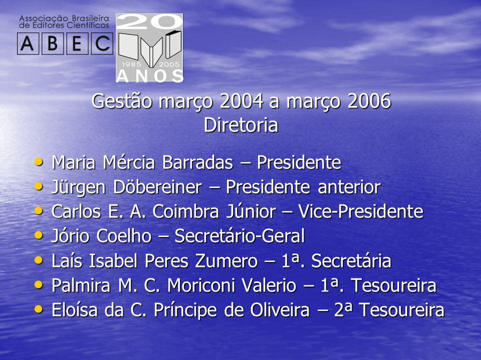 Gestão março 2004 a março 2006 Diretoria