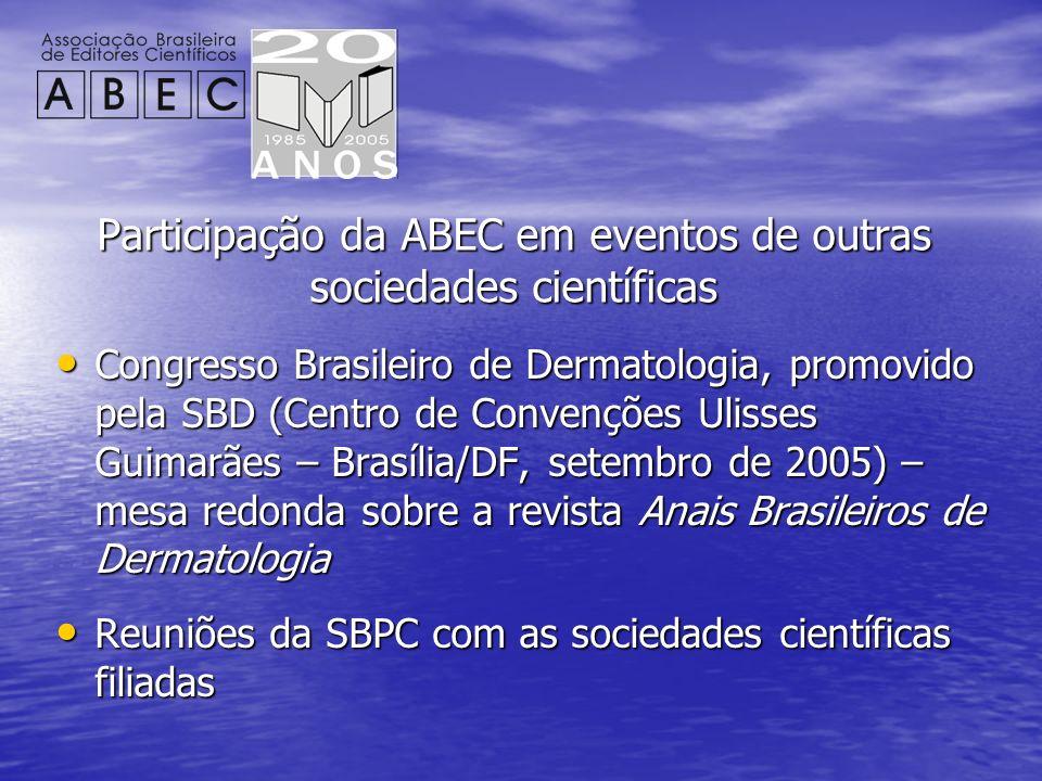 Participação da ABEC em eventos de outras sociedades científicas