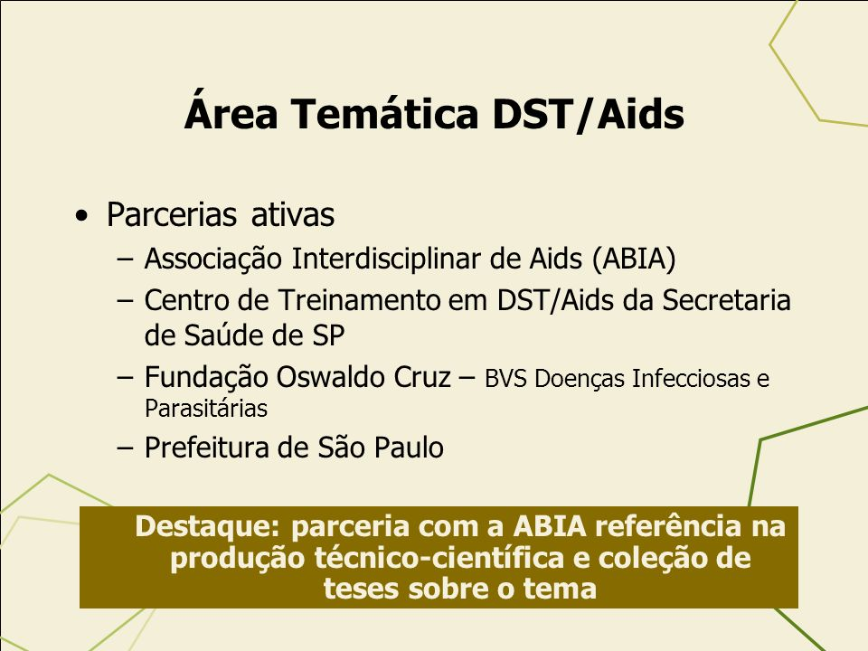 Área Temática DST/Aids