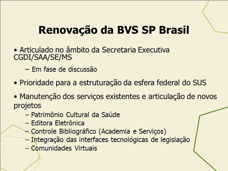 Renovação da BVS SP Brasil