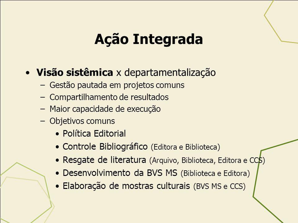 Ação Integrada Visão sistêmica x departamentalização