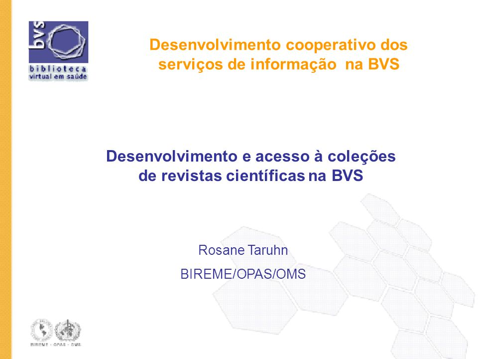 Desenvolvimento cooperativo dos serviços de informação na BVS
