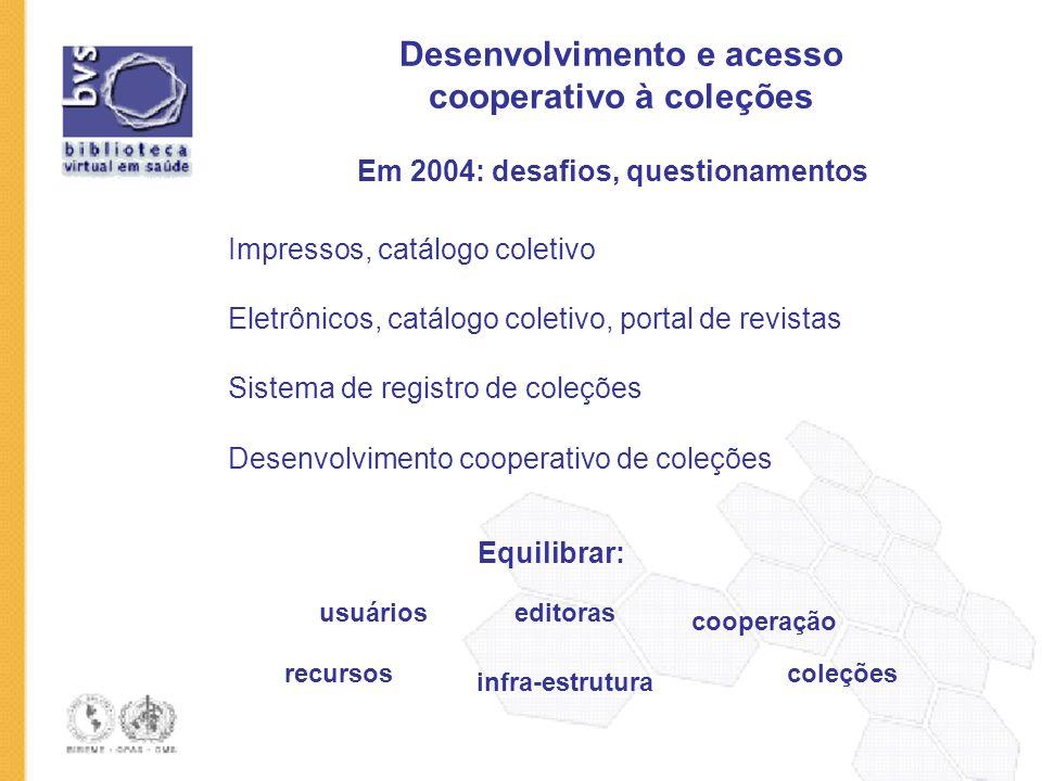 Desenvolvimento e acesso cooperativo à coleções