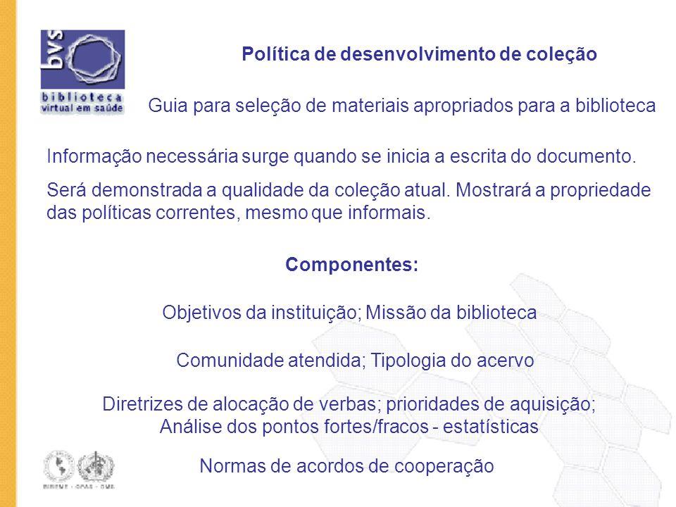 Política de desenvolvimento de coleção