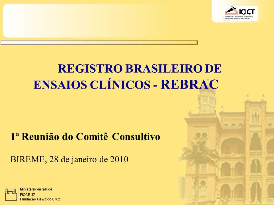 REGISTRO BRASILEIRO DE ENSAIOS CLÍNICOS - REBRAC