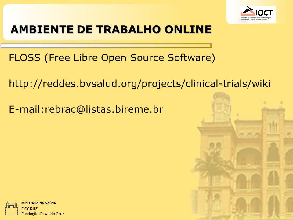 AMBIENTE DE TRABALHO ONLINE
