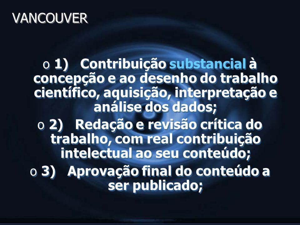 3) Aprovação final do conteúdo a ser publicado;