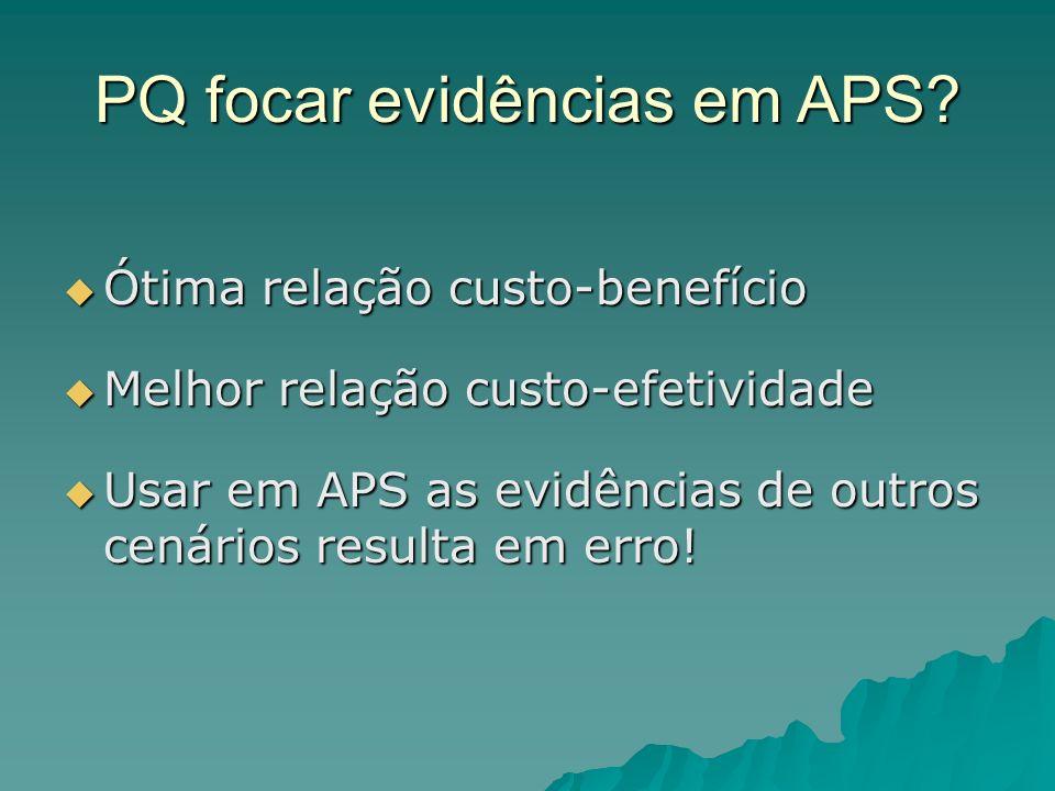 PQ focar evidências em APS