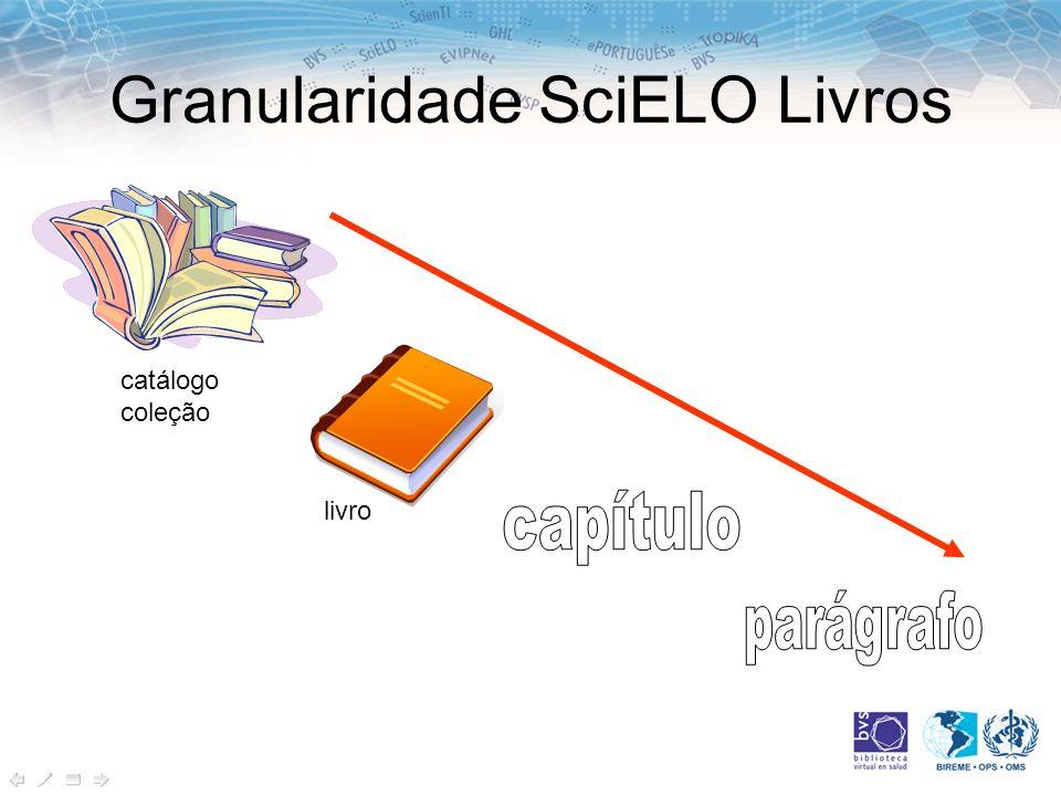 Granularidade SciELO Livros