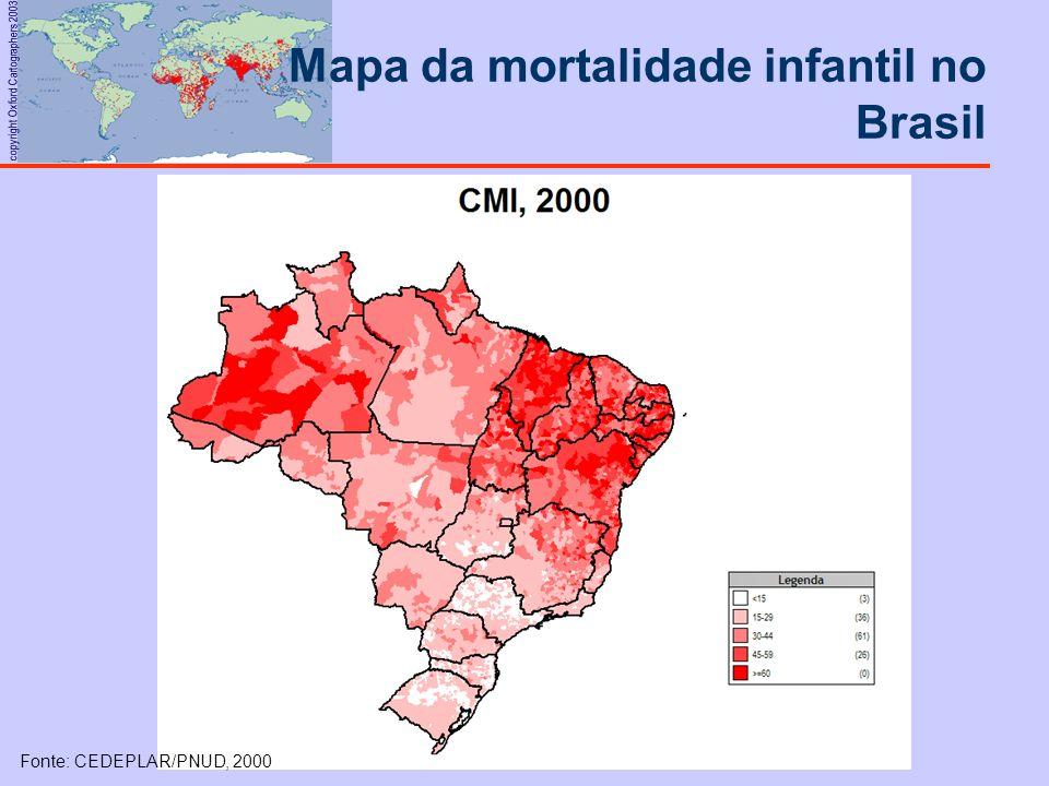 Mapa da mortalidade infantil no Brasil