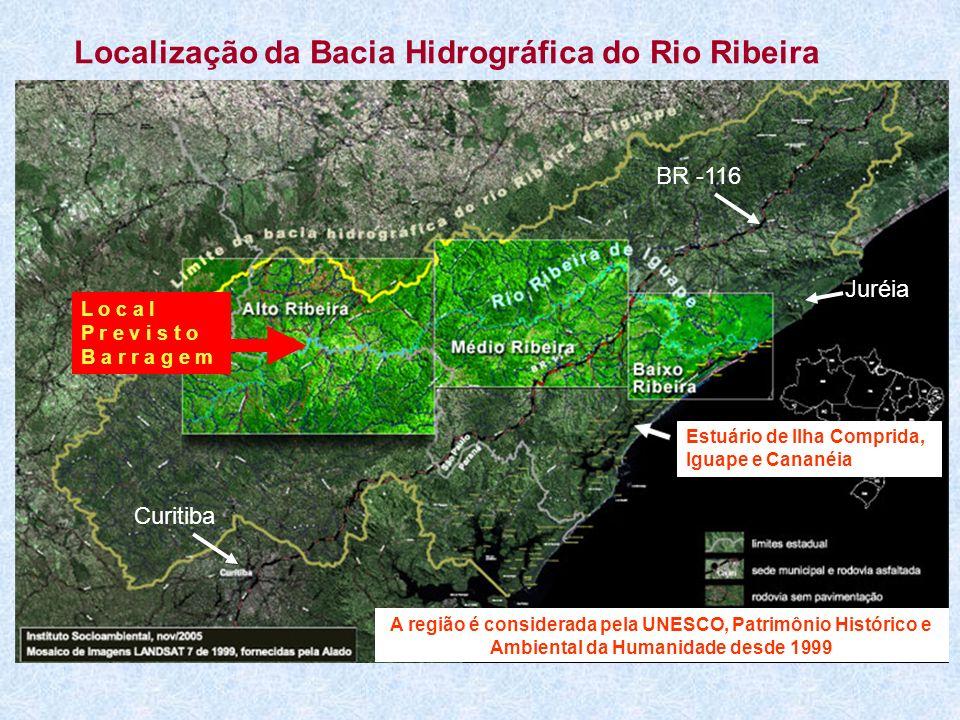 Localização da Bacia Hidrográfica do Rio Ribeira
