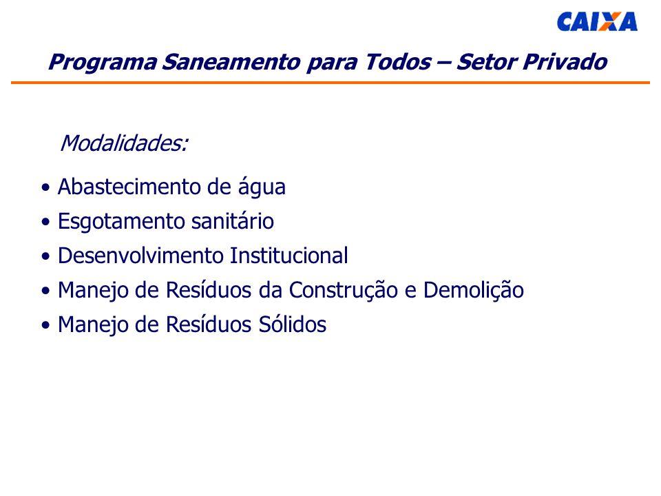 Esgotamento sanitário Desenvolvimento Institucional