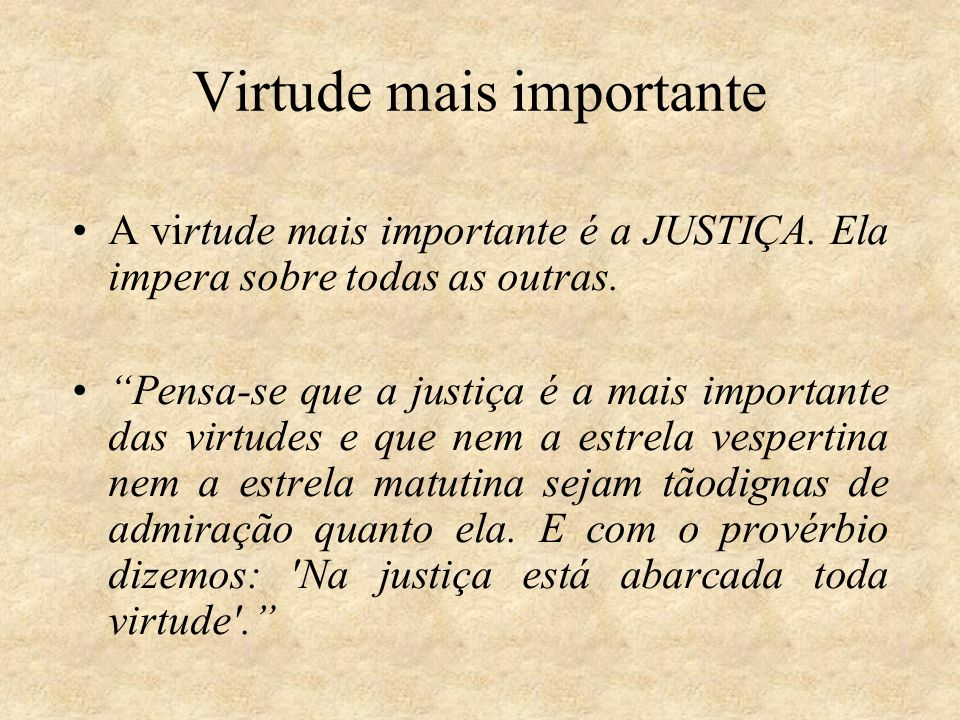 Virtude mais importante