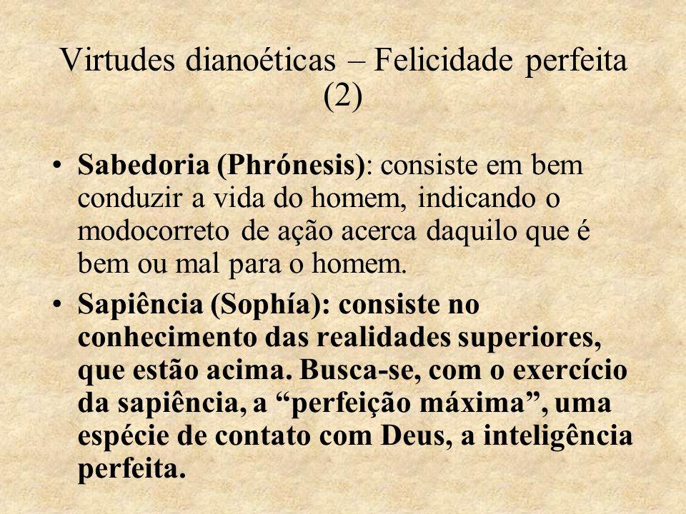 Virtudes dianoéticas – Felicidade perfeita (2)