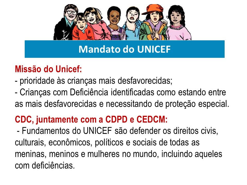 Mandato do UNICEF