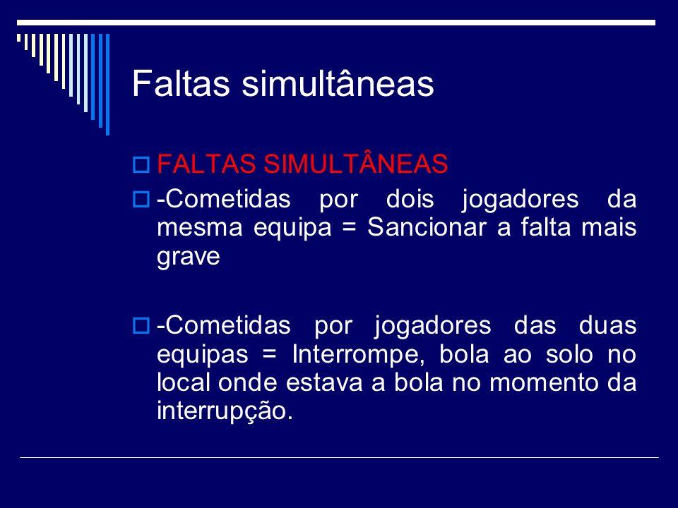 Faltas simultâneas FALTAS SIMULTÂNEAS