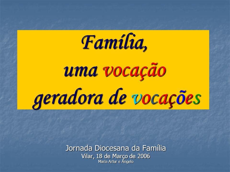 Família, uma vocação geradora de vocações