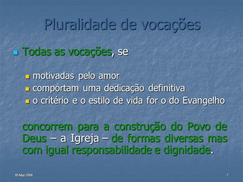 Pluralidade de vocações