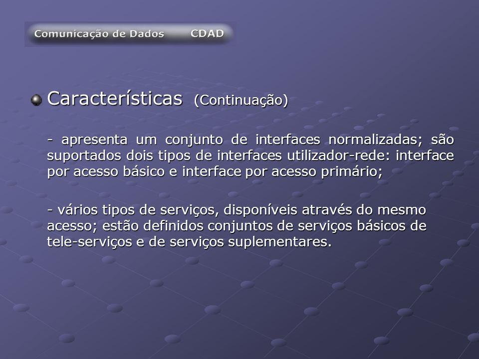 Características (Continuação)