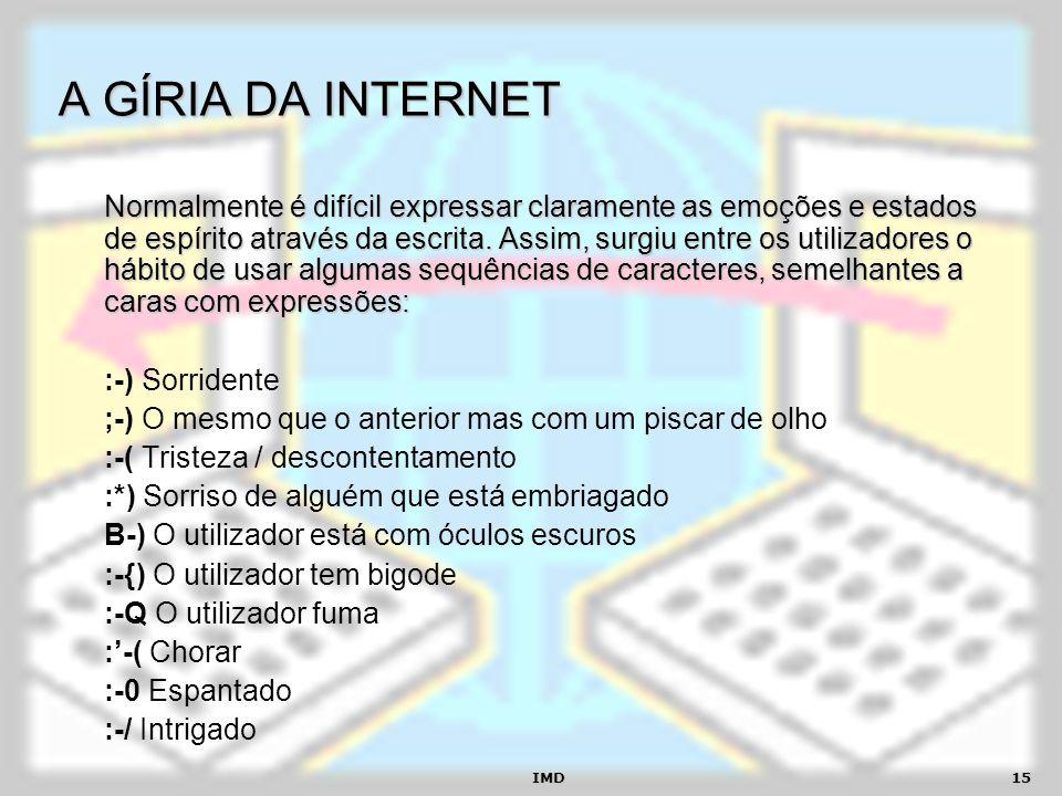 A GÍRIA DA INTERNET