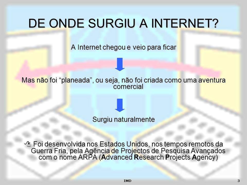 DE ONDE SURGIU A INTERNET