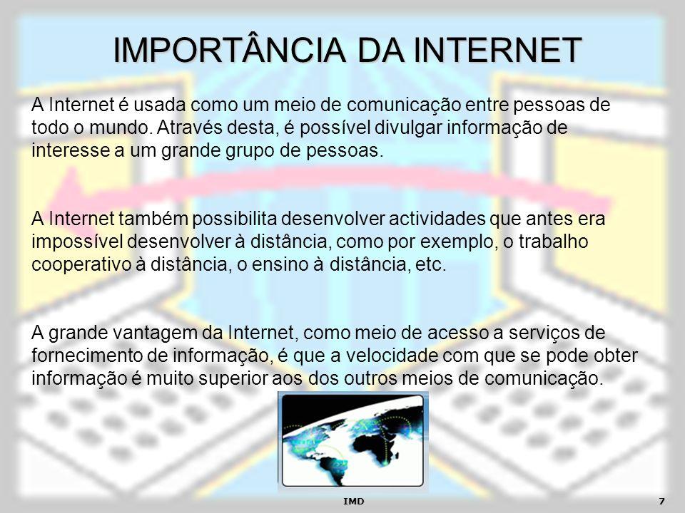 IMPORTÂNCIA DA INTERNET