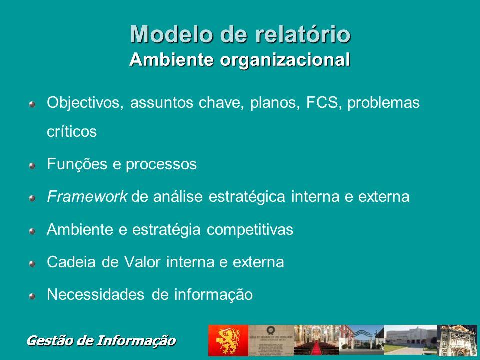 Modelo de relatório Ambiente organizacional