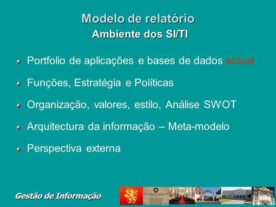 Modelo de relatório Ambiente dos SI/TI