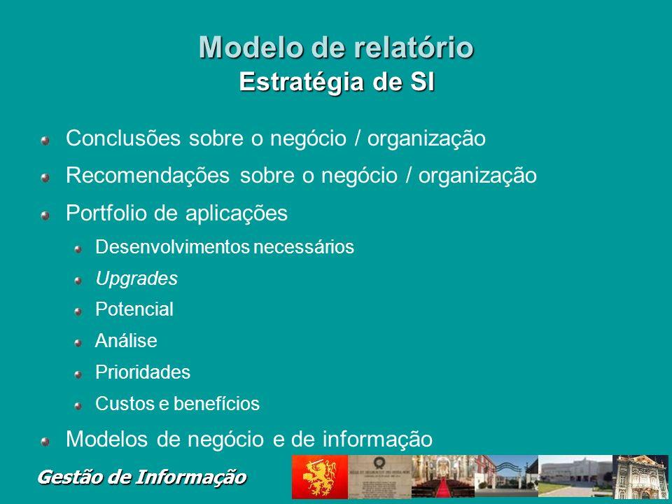 Modelo de relatório Estratégia de SI