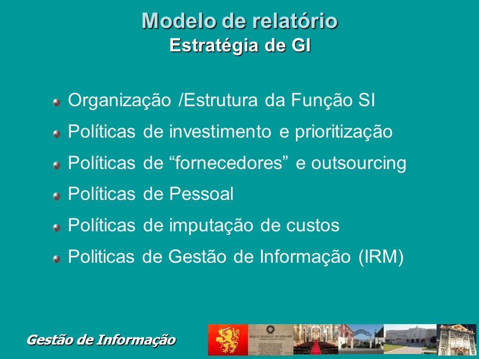 Modelo de relatório Estratégia de GI